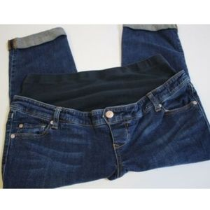 Old Navy Maternity Cropped Blue Jeans Size S 4 6